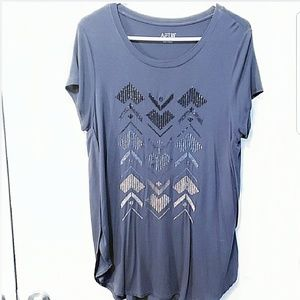 Apt 9 Short Sleeve Tunic with High-Low Hem